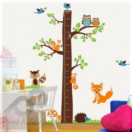 Orange Fox Owl Hedgehog Meter Tree XXL 190x190cm psA221
