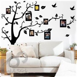 Black Photo Family Memory Tree L 150x120cm ps2141