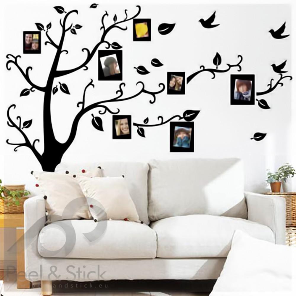 black photo family memory tree l 150x120cm ps2141