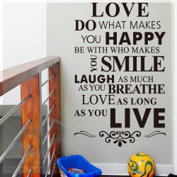 Love Laugh Live Quote L 100x60cm ps1304