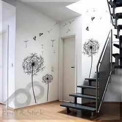 Black Dandelion Butterfly L 200x130cm ps032