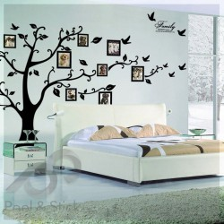 Black Photo Family Memory Tree XXL 250x180cm ps94AB