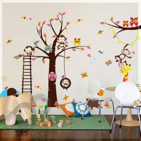 Owl Monkey Tree XXL 240x140cm