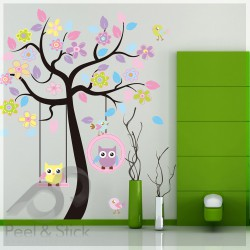 Hanging Owls Birds Tree XXL 170x160cm ps7186